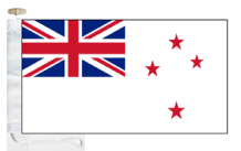 New Zealand Navy RNZN White Ensign Courtesy Boat Flags (Roped and Toggled)